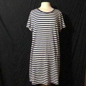 Old Navy Striped Short Sleeve T-Shirt Dress